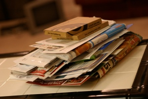 Messy mail, clutter