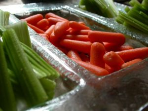 crudites, dipping vegetables