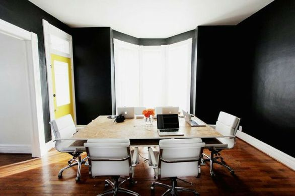 Office Spaces - Black Walls with White Trim