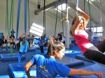 Circus classes, aerial silks