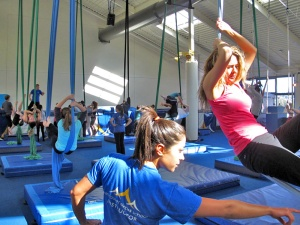 Circus classes, aerial silks