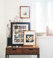 Styling for Side Tables - Layering Frames