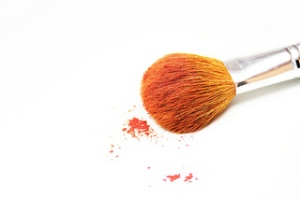 Make Up brush on white background