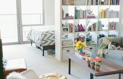 Styling for Small Spaces - Book Shelf Divider