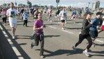 Women running a race